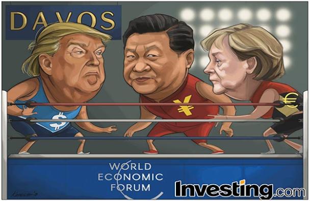 트럼프 대통령 다보스행에 무역전쟁 우려 높아져