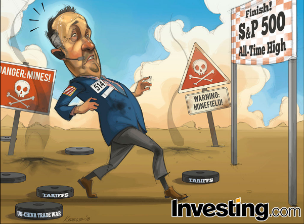 S&P 500 지수 사상 최고점 근접