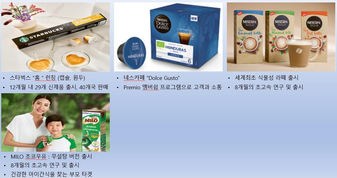 제품별 전략 (음료) (출처: nestle.com)